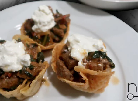 low carb : cheese shell taco cups