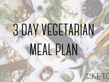 3 day vegetarian meal plan