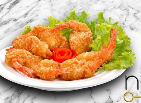 low carb : coconut shrimp