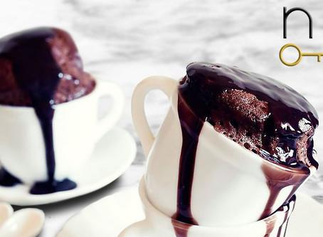 low carb : molten chocolate mug cake