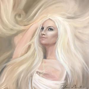 #портрет #annimerelillkunstnik #õlimaal