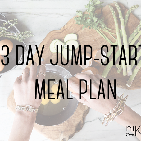 jump-start 3 day meal plan