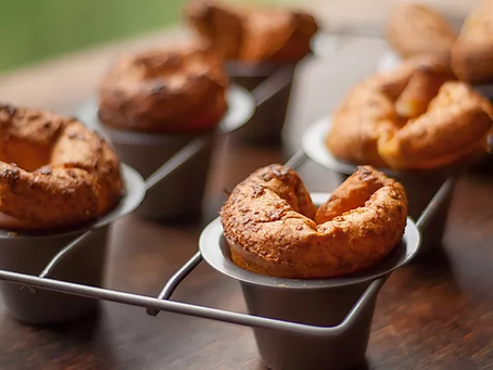 low carb : turkey and cheese popovers