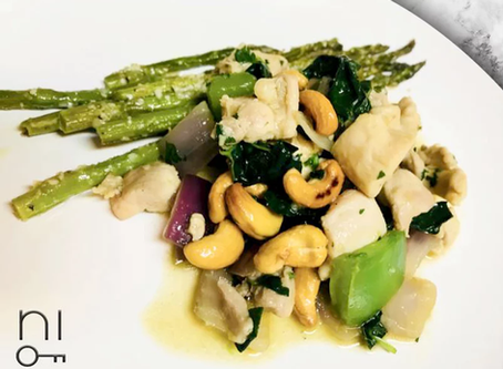 low carb : cashew chicken
