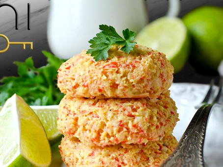 low carb : crab cakes