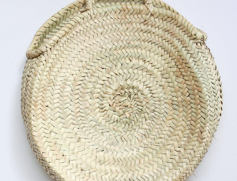 ROUND RAFFIA BASKET BAG BIG