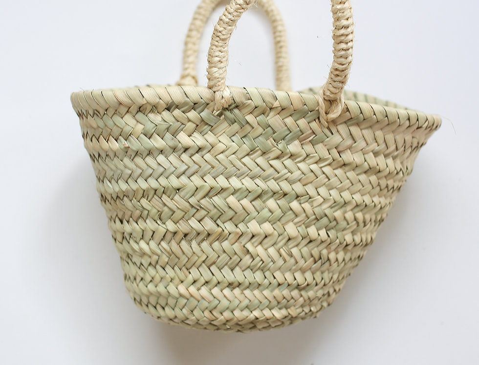 RAFFIA BASKET BAG SMALL