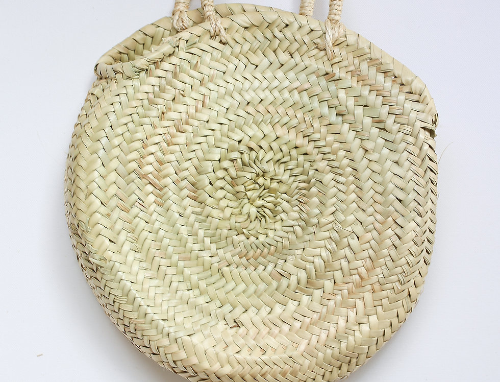 ROUND RAFFIA BASKET BAG SMALL