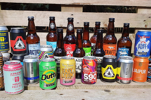 Crafty Case - handpicked     mixed case of 24 bottles & cans - plus 1 beer free!