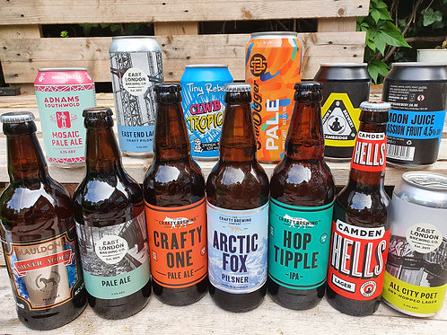 Crafty Dozen - handpicked mixed case of 12 bottles & cans - plus 1 beer free!