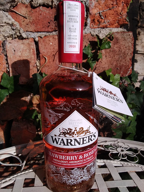 Warner's Strawberry and Rose Gin 70cl