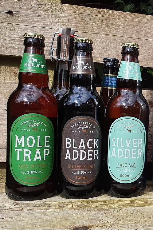 Mauldons Beers 500ml bottles - various