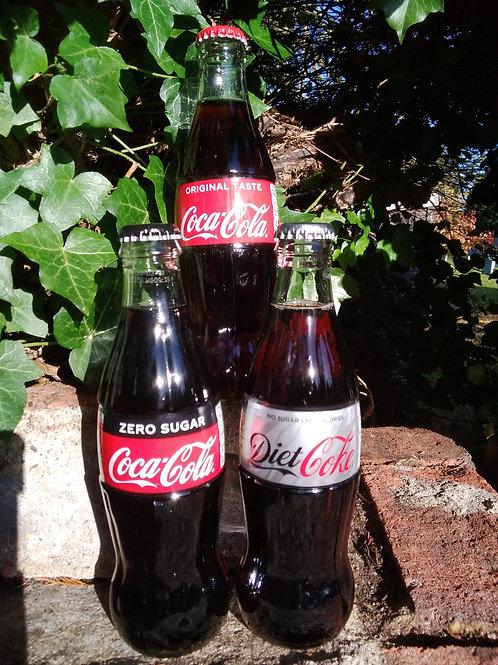 Coke 'Icon' glass bottle 330ml 12pk - 3 types