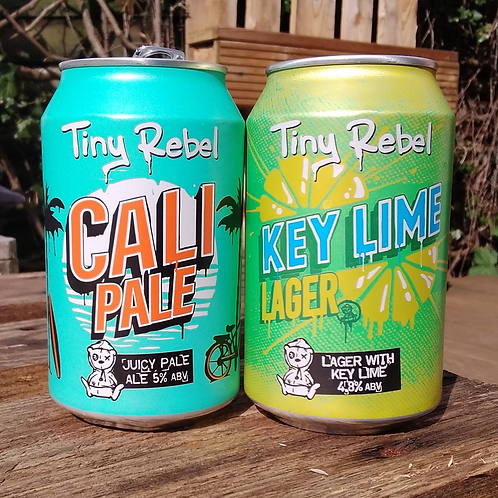 Tiny Rebel Cali Pale and Key Lime Lager 330ml can