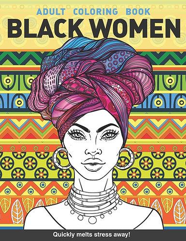 Adult Coloring Book: Black Women (Paperback)