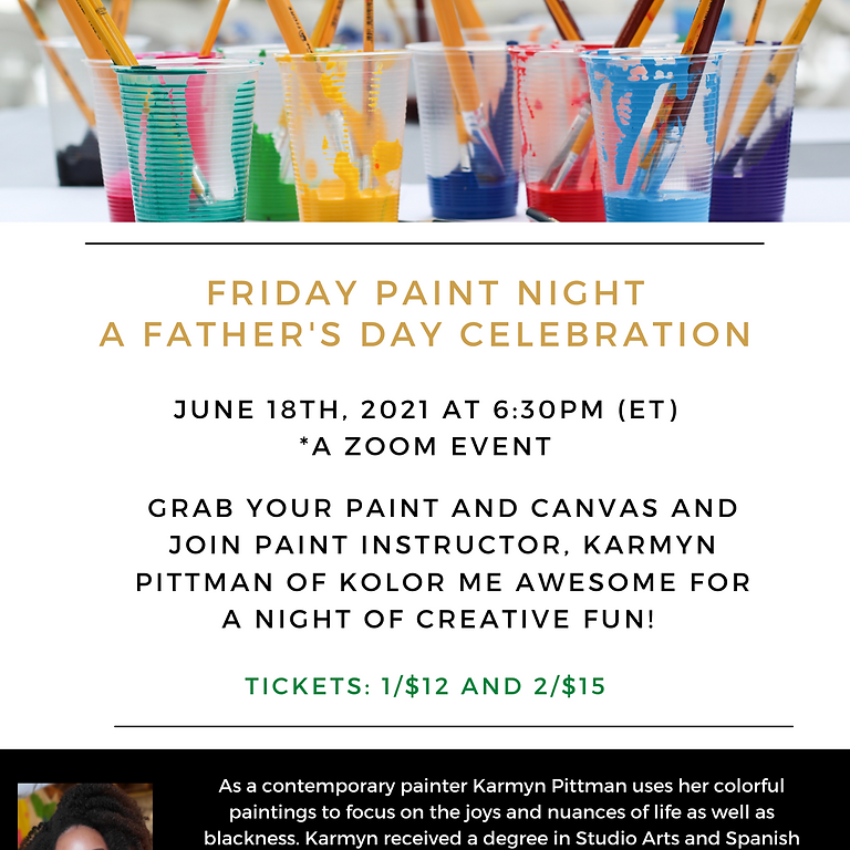 Friday Paint Night: A Father's Day Celebration