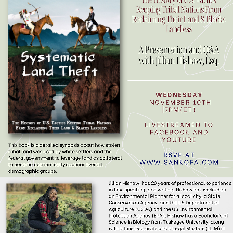 Systematic  Land Theft: The History of U.S. Tactics Keeping Tribal Nations From Reclaiming Their Land & Blacks Landless