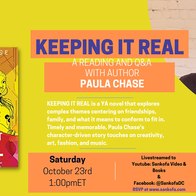KEEPING IT REAL: A Reading and Q&A w/Author Paula Chase