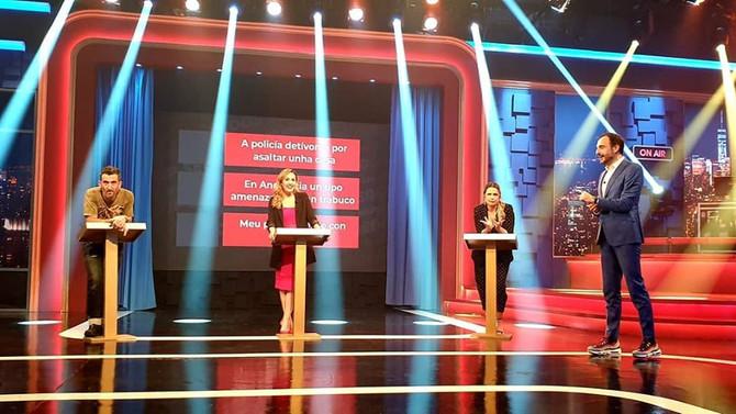 Lucía Regueiro y Flo arrasan junto con Luis Zahera en el Land Rober Comedia a Domicilio