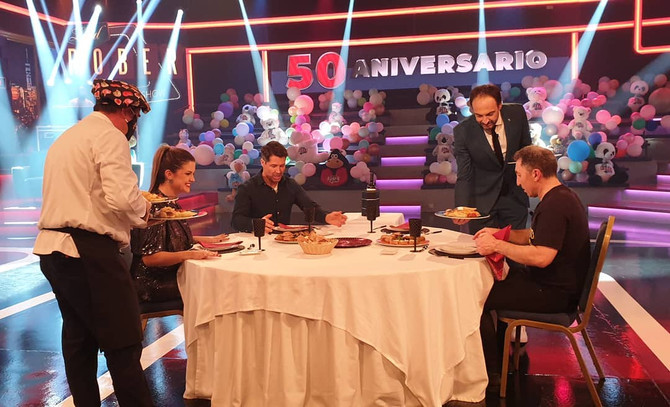 Cantizano y Pepe Rodríguez en un Land Rober en el que se celebró el cumpleaños de Víctor Fábregas