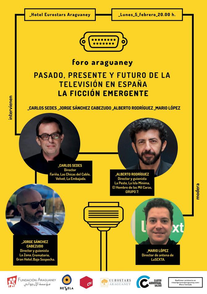 Foro sobre la ficción española, con Carlos Sedes, Jorge Sánchez-Cabezudo, Alberto Rodríguez y Mario
