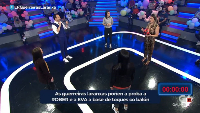 Las Guerreiras Laranxas del  Burela FS revolucionan Land Rober que rozó el 17% de share