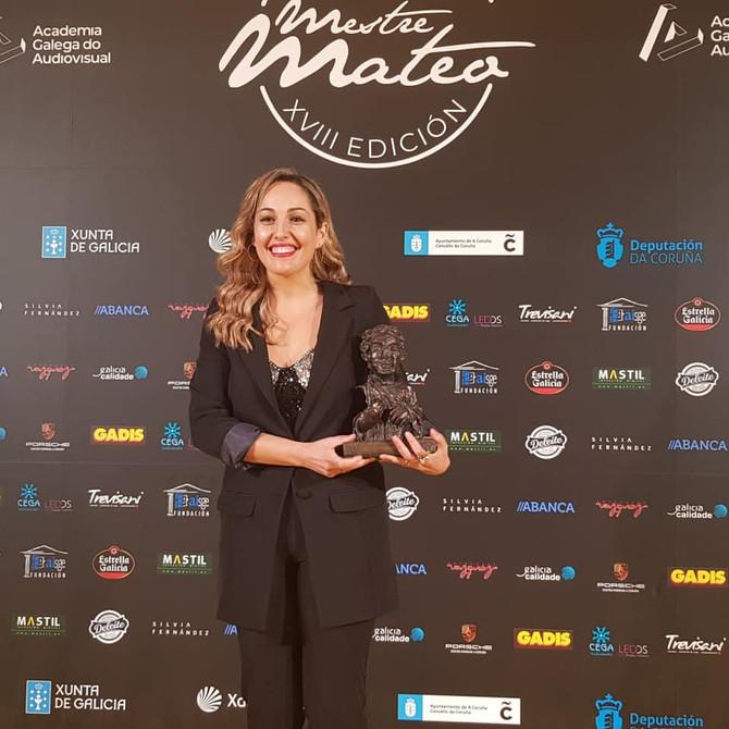 ❤️ Lucía Regueiro, premio a la mejor comunicadora en los Mestre Mateo 👏👏👏