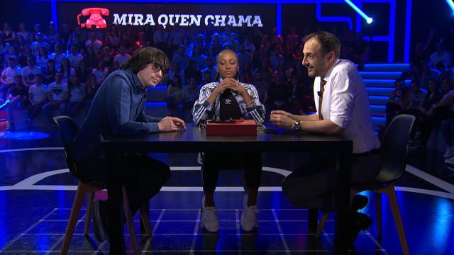 La atleta Ana Peleteiro y el humorista Luís Piedrahita compartieron risas ayer en Land Rober