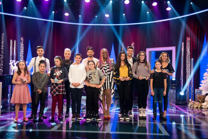 "Segunda semifinal de ""Pequenos Fenómenos"", con Lucrecia, Susana Seivane y Davide Salvado c"
