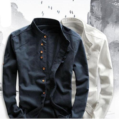 Men's Cotton Linen Shirts Long Sleeve Men Casual Slim Plus Size 6xl