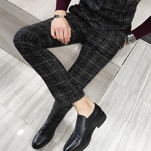 ICPANS Pants Men Slim Fit Men Business Formal Trousers Mens Party Pants