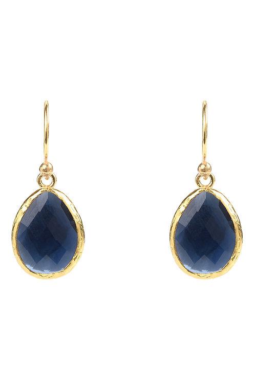 Petite Drop Earring Sapphire Hydro Gold