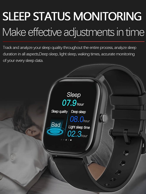 Smart Watch Full Touch Fitness Tracker Blood Pressure 1.5 Inch Sport SmartWatch