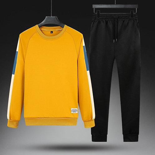 Fashion Mens Tracksuit Autumn Casual Harajuku Men Pants Set Plus Size