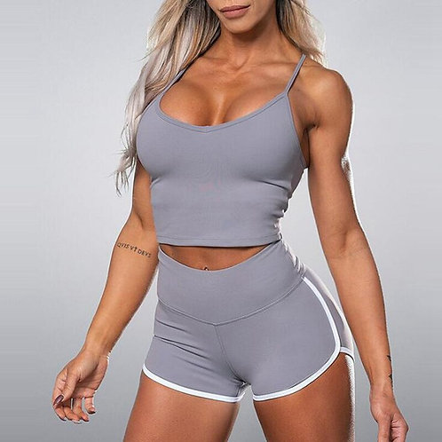 2PCS Women Summer Seamless Yoga Set Fitness