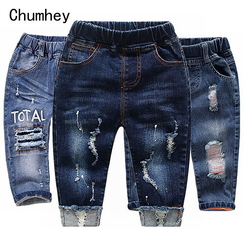 Chumhey 0-6t Baby Jeans Denim Trousers Toddler Clothing