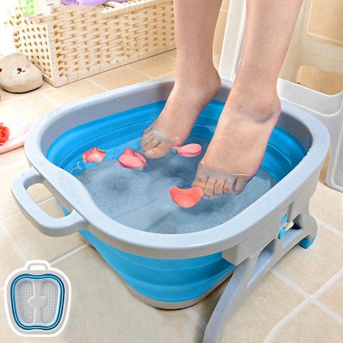 Folding Foot Massage Basin Spa Foldable Washtub