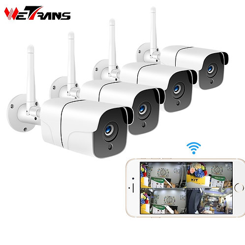 Wetrans Wireless Security Camera System 1080P IP Camera Wifi SD Card Outdoor