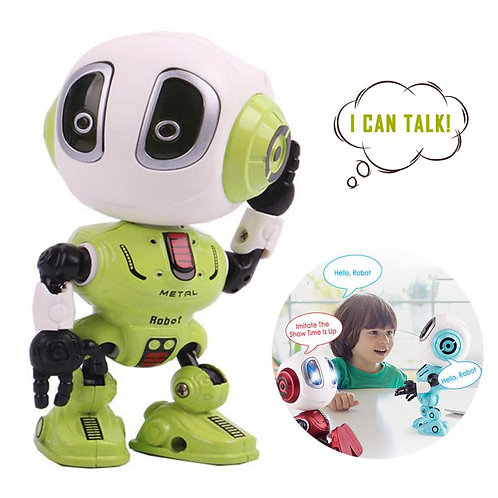 Smart Talking Robot Toy DIY Touch Sensor LED Electronic Removable Alloy Robot