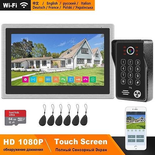 WIFI Intercom System Video Door Phone  Touch Screen Doorbell Motion Detection