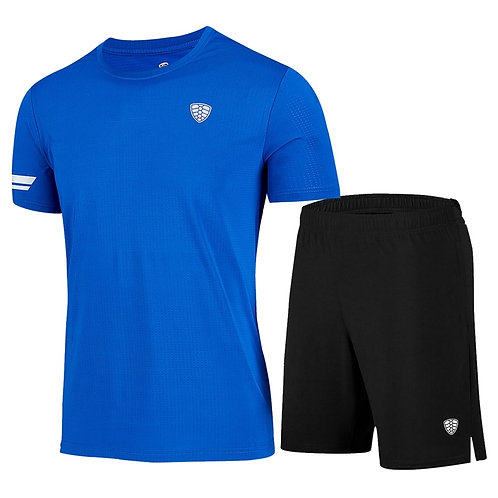 Mens Sports Suit Breathable Jersey Set