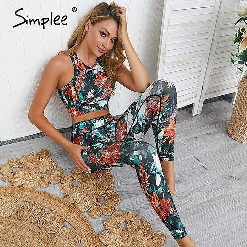 Simplee High Waist Floral Women Long