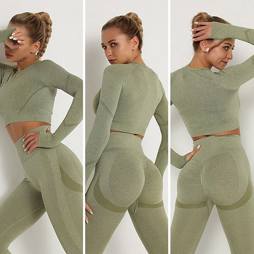 Women Seamless Yoga Set Sports Suit for Women Workout Sports Outfit