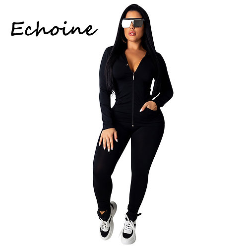 Fashion Hooded Two Piece Set Jogging