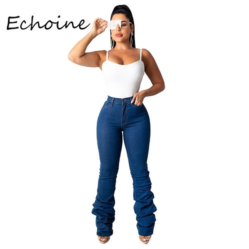 Pencil Denim Pants Skinny Jeans Woman High Waist Jeans Plus Size 2XL