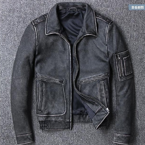 Brand Fashion New Clothing Cow Leather Jackets