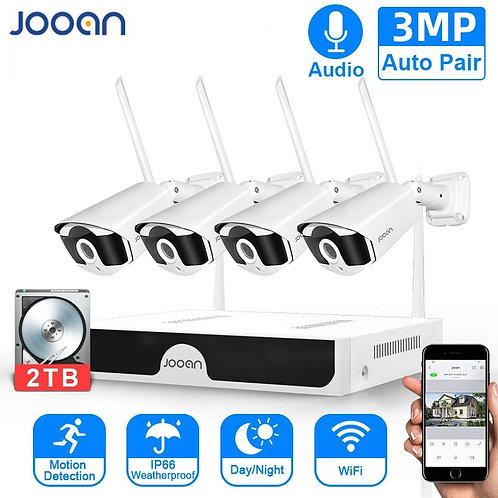 CCTV System Wireless Surveillance Camera System Outdoor WIFI  Audio Recording