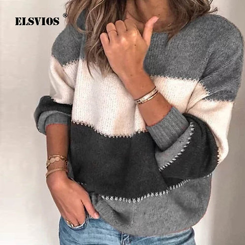 ELSVIOS Female Winter Knitted Sweaters