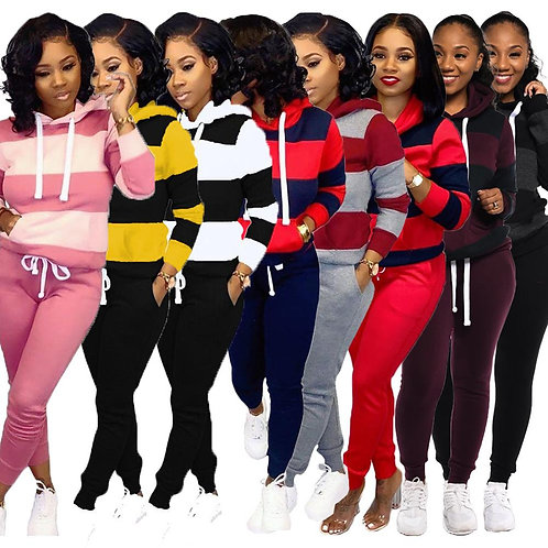 GL Women Winter Women's Set Tracksuit Full Sleeve Hooded Sweatshirt