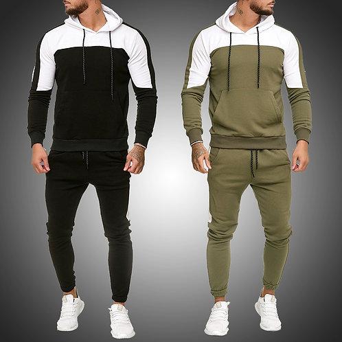 Mens Tracksuit Jogging Suit Side
